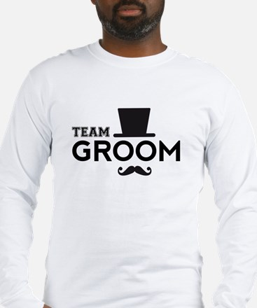 Team groom, hat and mustache Long Sleeve T-Shirt