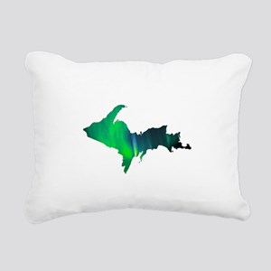Aurora Borealis U.P. 2 Rectangular Canvas Pillow