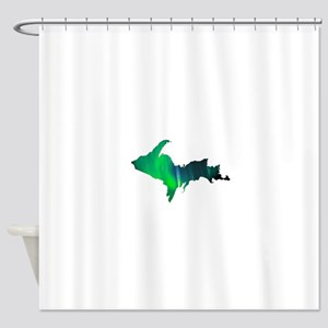 Aurora Borealis U.P. 2 Shower Curtain