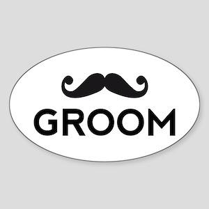Groom mustache Sticker