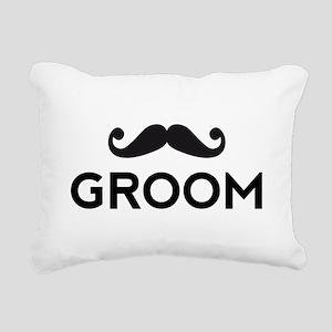 Groom mustache Rectangular Canvas Pillow