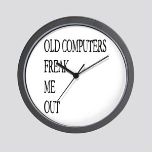 Old Computers Freak Me Out 001 Wall Clock