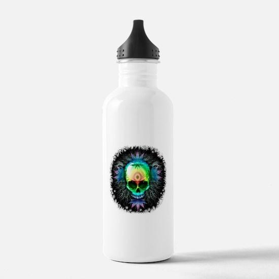 Marijuana Psychedelic Skull Water Bottle