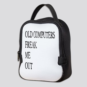 Old Computers Freak Me Out 001 Neoprene Lunch Bag