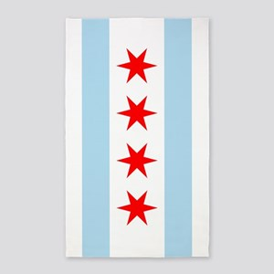 Chicago Flag 3'x5' Area Rug