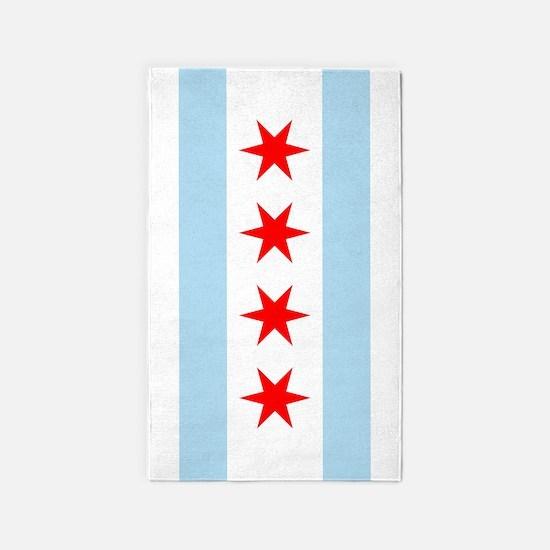 Chicago Flag 3'x5' Area Rug