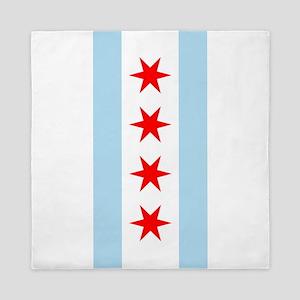 Chicago Flag Queen Duvet