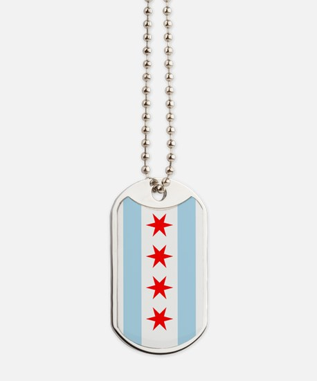 Chicago Flag Dog Tags