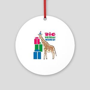 Big Birthday Wishes! Ornament (Round)