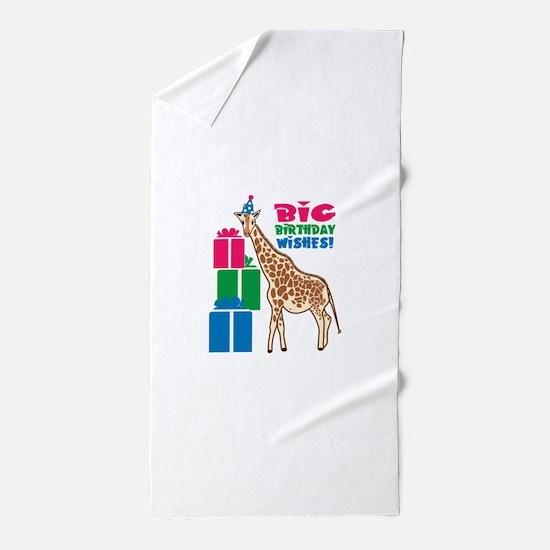 Big Birthday Wishes! Beach Towel