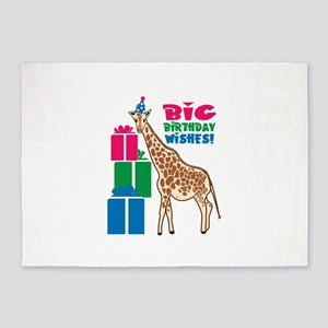 Big Birthday Wishes! 5'x7'Area Rug