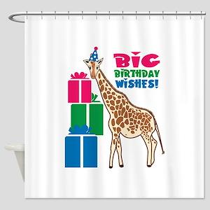 Big Birthday Wishes! Shower Curtain