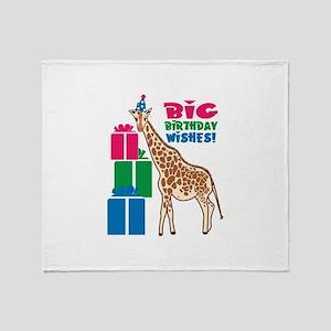 Big Birthday Wishes! Throw Blanket
