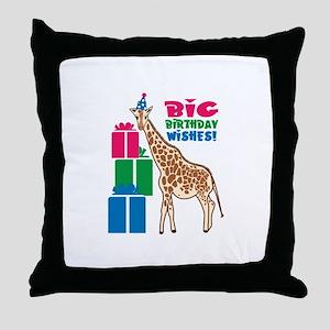 Big Birthday Wishes! Throw Pillow