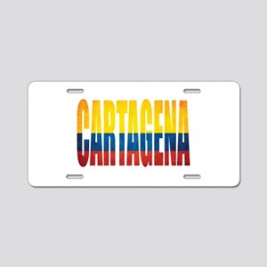 Cartagena Aluminum License Plate