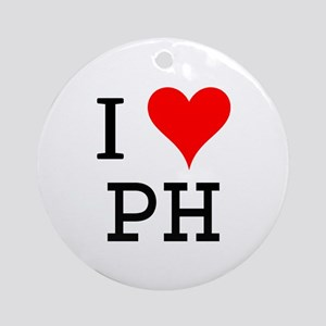 I Love PH Ornament (Round)