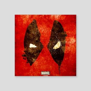 "Deadpool Grunge Mask Square Sticker 3"" x 3"""