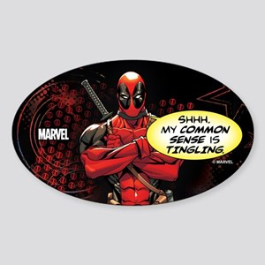 Deadpool My Common Sense Sticker (Oval)