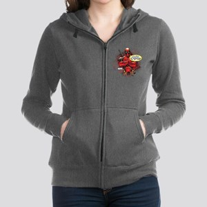 Deadpool Besmirched Women's Zip Hoodie