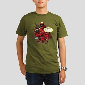 Deadpool Besmirched Organic Men's T-Shirt (dark)