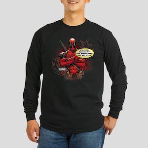 Deadpool Besmirched Long Sleeve Dark T-Shirt