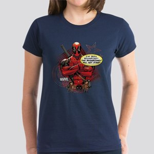 Deadpool Besmirched Women's Dark T-Shirt
