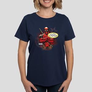 Deadpool Besmirched Women's Dark T-Shirt