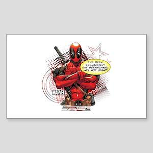 Deadpool Besmirched Sticker (Rectangle)
