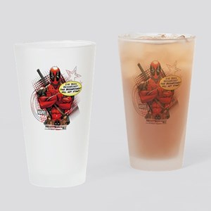 Deadpool Besmirched Drinking Glass