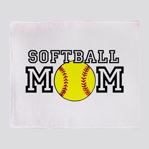 Softball Mom Throw Blanket