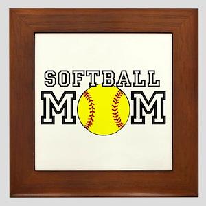 Softball Mom Framed Tile
