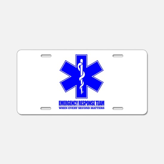 Emergency Response Team Aluminum License Plate