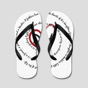 Fathers Day Dad Flip Flops