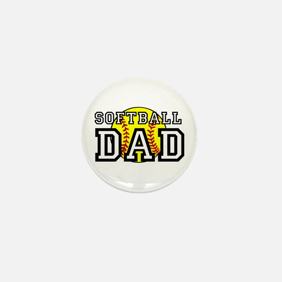 Softball Dad Mini Button