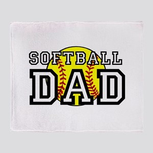 Softball Dad Throw Blanket