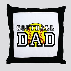 Softball Dad Throw Pillow