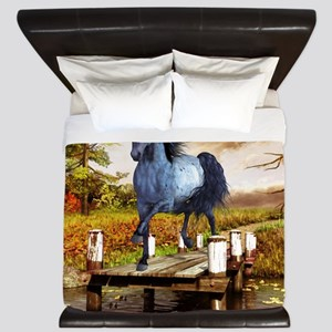 Horse on the Lake King Duvet