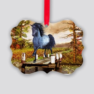 Horse on the Lake Ornament