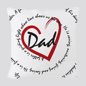 Fathers Day Dad Woven Throw Pillow