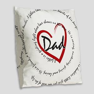 Fathers Day Dad Burlap Throw Pillow