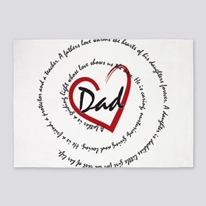 Fathers Day Dad 5'x7'Area Rug