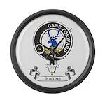 Badge-Stirling [Cadder] Large Wall Clock