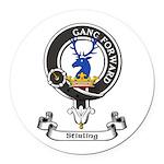 Badge-Stirling [Cadder] Round Car Magnet