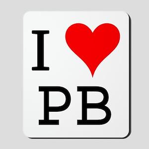 I Love PB Mousepad
