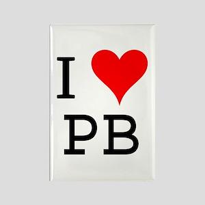 I Love PB Rectangle Magnet