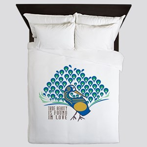 True Beauty Is Found In Love Queen Duvet