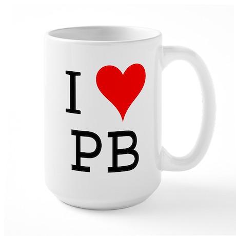 I Love PB Large Mug