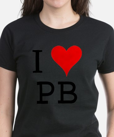 I Love PB Women's Dark T-Shirt