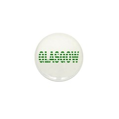 Glasgow Green and White Mini Button (10 pack)
