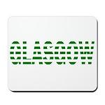 Glasgow Green and White Mousepad